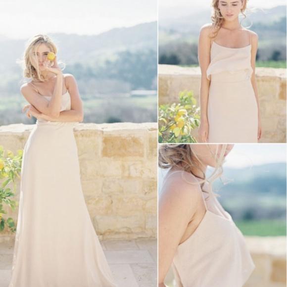 68ad21a7acf Jenny Yoo Glam Nude Glitter Blake Formal Dress
